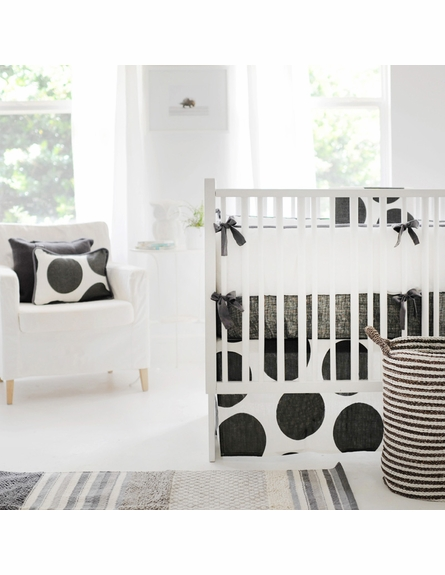 Spot On Charcoal Crib Bumper