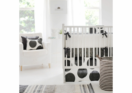 On Sale Spot On Charcoal Crib Skirt