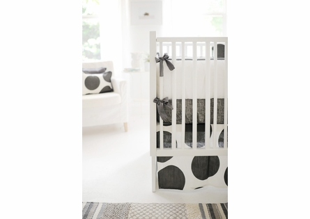 Spot On Charcoal Crib Skirt