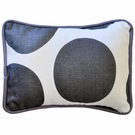 Spot On Charcoal Throw Pillow