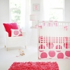 Spot On Fuchsia Crib Bedding Set