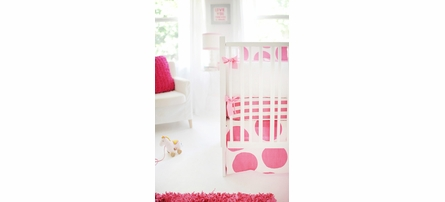 Spot On Fuchsia Crib Bumper