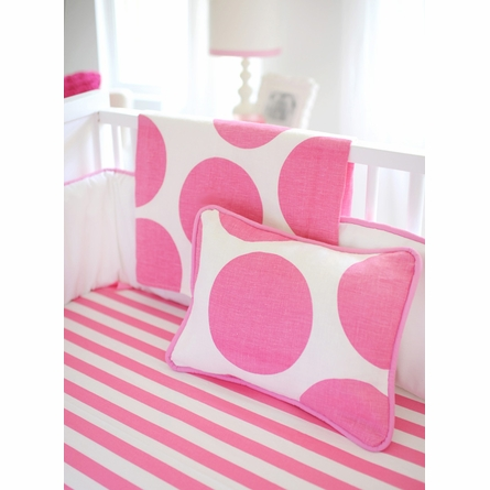 Spot On Fuchsia Throw Pillow