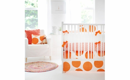 Spot On Tangerine Crib Skirt