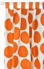 Spot On Tangerine Curtain Panels - Set of 2