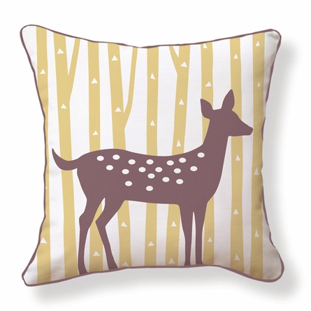 Spotted Deer Reversible Throw Pillow