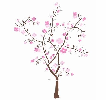 Spring Blossom Tree Giant Peel & Stick Applique