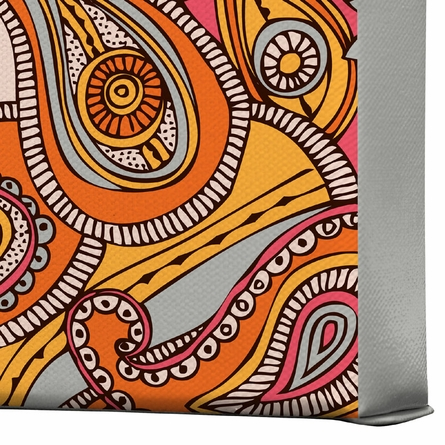 Spring Paisley Wrapped Canvas Art