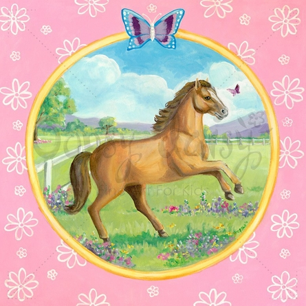 Springtime Gallop Canvas Wall Art