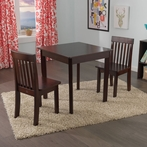 Square Table & 2 Avalon Chairs Set in Espresso