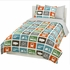 Squares Dove Grey Sheet Set