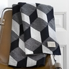 Squares Knit Throw Blanket