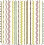 Squiggle Stripe Doodlefish Fabric by the Yard