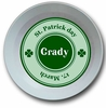 St Patrick's Day Classic Personalized Melamine Bowl