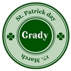 St Patrick's Day Classic Personalized Melamine Plate