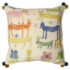 Stacked Animals Throw Pillow