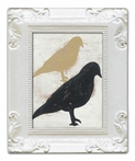 Stacked Birds Decorative Framed Art Print