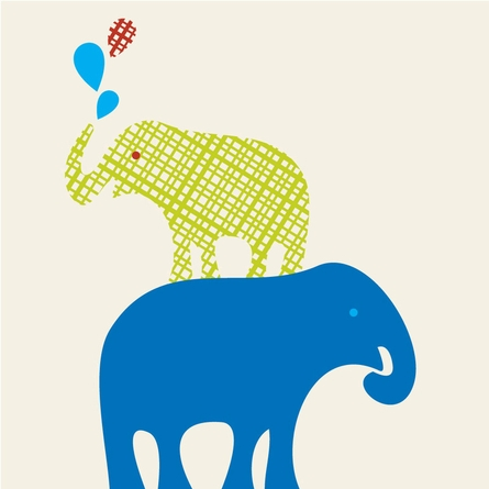 Stacked Elephant Art Print