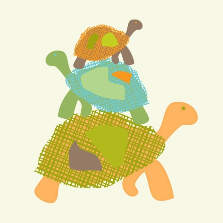 Stacked Turtles Art Print