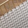 Stamped Zig Zag Crib Sheet