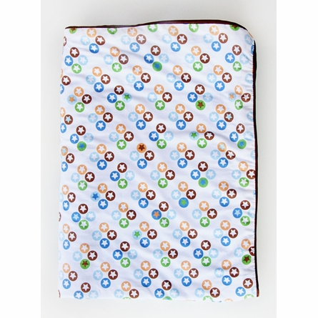 Star Dot Piped Baby Blanket