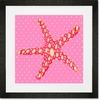 Star Pink Framed Art Print