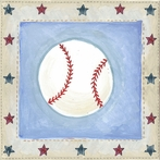 Star Sports Baseball Canvas Wall Art