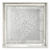 Star Sprinkled Heart Gray Framed Canvas Art