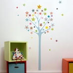 Star Tree Wall Decal