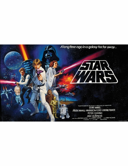 Star Wars Classic Chair Rail Prepasted Wall Mural