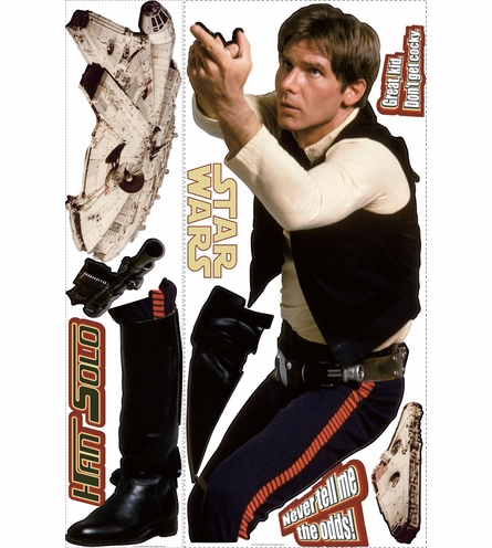 Star Wars Han Solo Giant Peel & Stick Applique