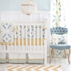 Starburst in Gold Crib Bedding Set