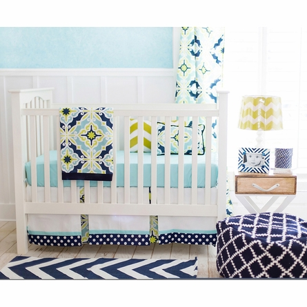 Starburst in Kiwi Crib Bedding Set