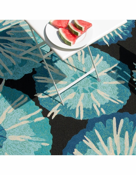 Starburst Indoor/Outdoor Rug in Indigo