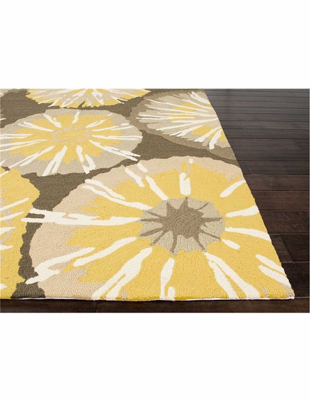 Starburst Indoor/Outdoor Rug in Yellow
