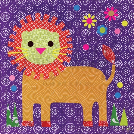 Starburst Lion Canvas Wall Art