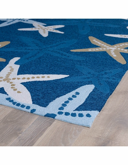 Starfish Matira Rug in Blue