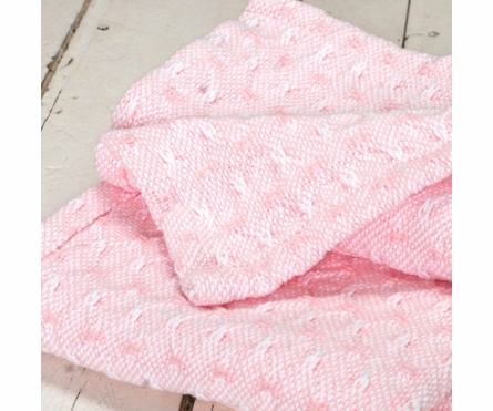 Starry Nights Baby Blanket - Pale Pink