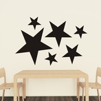 Stars Chalkboard Wall Decal - Set of 6