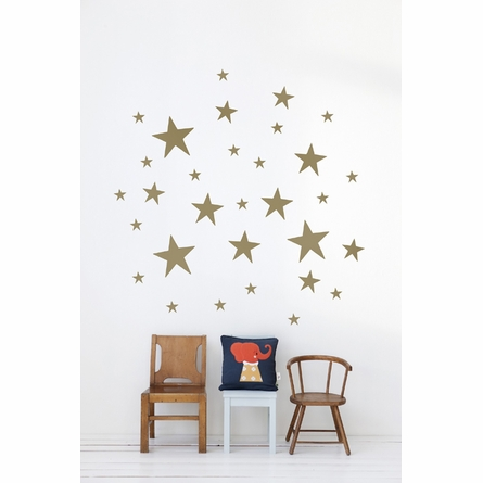 Stars Kids Wall Sticker in Gold