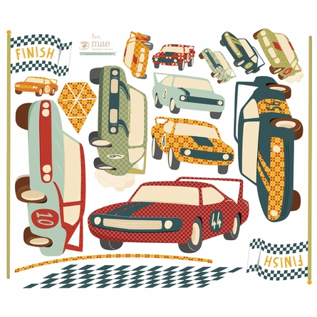 Start Your Engines Fabric Wall Decals