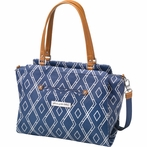 Statement Satchel Diaper Bag - Indigo