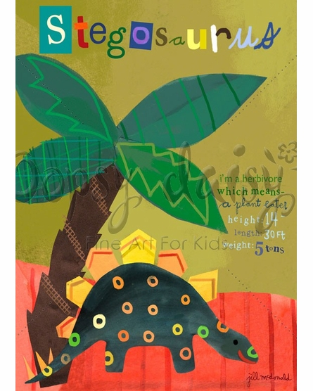 Stegosaurus Canvas Wall Art