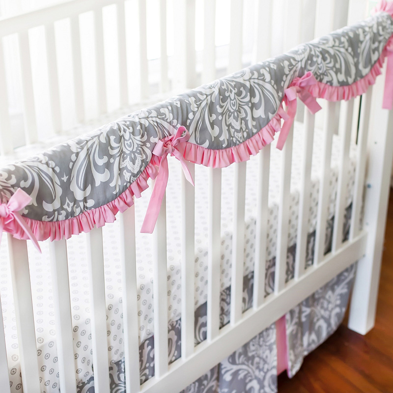 Stella Gray Crib Bedding Set By New Arrivals Inc
