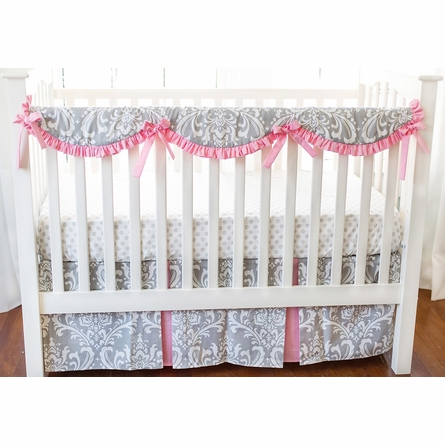 Stella Gray Crib Rail Cover