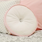 Stella Gray Round Accent Pillow