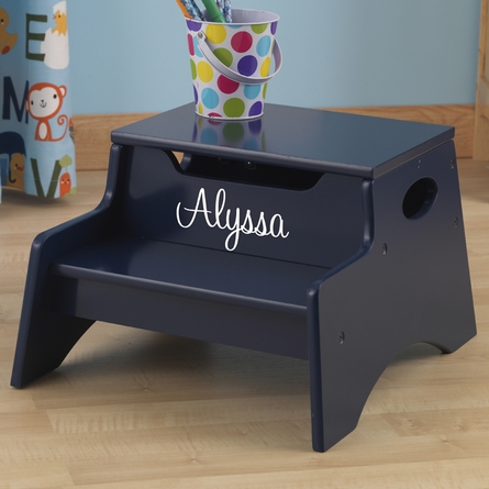 Step Stool with Storage in Blueberry