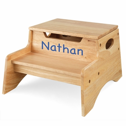 Step Stool With Storage in Natural