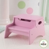 Step Stool With Storage in Pink