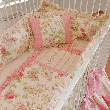 Stephanie Anne Round Crib Linens